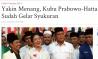 Prabowo Kok Sudah Gelar Syukuran? Secara Etika Politik Melanggar